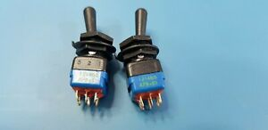2pcs APEM Toggle Switches Mil Spec ON ON or ON OFF DPDT Toggle Switch