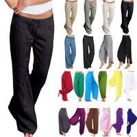 Womens Casual Harem Pants Loose Baggy Wide Leg Yoga Summer Trousers Plus Size
