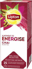 Lipton Spiced Chai Enveloped Tea Bags 6 Boxes New Feel Good Selection