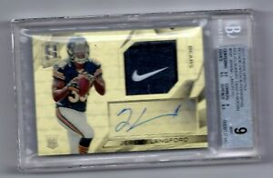 JEREMY LANGFORD NFL  2015 SPECTRA ROOKIE PATCH AUTO GOLD LAUNDRY TAG (1/1) BEARS