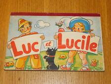 ancien livre pliable LUC et LUCILE album LITO paris pop up 3D made SWEDEN 1951
