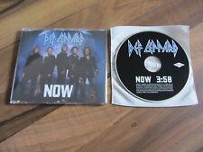 DEF LEPPARD Now 2002 EUROPEAN promo collectors CD single