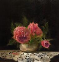 C MacGillivray Original Oil Painting Flowers Impressionist Realism Still Life