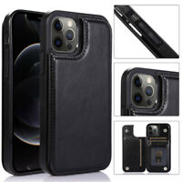 Magnetic Leather Wallet Card Slot Flip Case For iPhone 12 11 Pro Max XS 8 SE 2nd