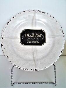 IL MULINO Melamine Salad Plate Set, RUSTIC Stone Gray, Side Plates, NEW X 4