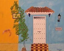 "Door oil painting, Façade, ""Colombia Colors"" (16"" x 20"""