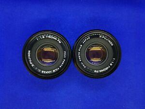 Pair of X-Fujinon 50mm f/1.9 FM Lens for Fujifilm Fujica X Mount- need attention