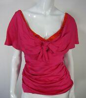 Nanette Lepore Sleeveless Blouse TOP Size 4 Scoop neckline 100% Silk