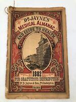Dr D Jayne's 1882 Medical Almanac & Guide to Health Medicine Elixir ~ Nice Shape