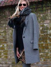 Zara Patternless Blazer Button Coats & Jackets for Women