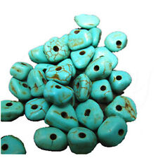 20g Green Blue Irregular Turquoise Nugget Magnesite Gemstone Loose DIY Beads