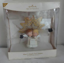 Vtg Design M Hamilton Hallmark Christmas Mary's Angels Boy Girl Tree Topper Top