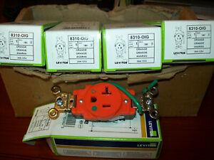 Leviton 8310-OIG 20 Amp, 125 Volt, Hospital grade Isolated Ground Single Recept