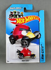 """HOT WHEELS ANGRY BIRDS """"RED BIRD"""" HW CITY 82/50 LONG CARD BFC91 NEW/SEALED"""