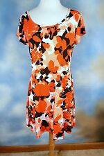 NEW MICHAEL KORS stretch floral t-shirt casual career dress SZ: M