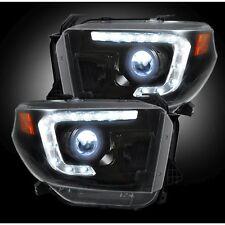 RECON 264294BKC 14-17 Toyota Tundra White-Smoked Headlights Projector