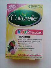 """NEW 1 BOX """"Culturelle"""" Probiotic - 30 Kids Chew. Tabs - DIETARY SUPPLEMENT - NIB"""