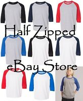 Gildan Heavy Cotton Youth Raglan Tee Baseball T-Shirt 5700B XS-XL