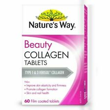 NATURE'S WAY BEAUTY COLLAGEN 60 FILM COATED TABLETS SKIN AND NAIL HEALTH *MVC*