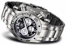 FIREFOX DAREDEVIL S140 Stahl Chronograph Quarz Armband- Herrenuhr schwarz 10 ATM