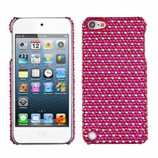 iPod Touch 5 5th gen Crystal Diamond BLING Hard Case Snap On Cover Hot Pink Dots