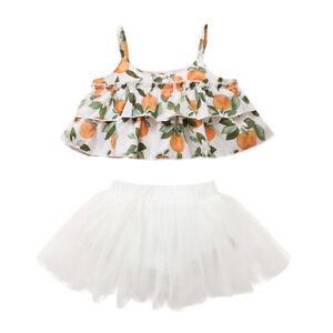 Mode Säugling Baby Mädchen Ärmellos Blumen Achselshirt + Kurze Rock Outfits Sets