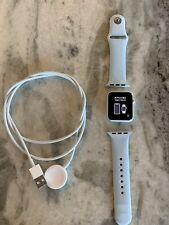 Apple Watch Series 1 38mm Aluminum Case Powder Blue Sport Band - PLZ READ DESC