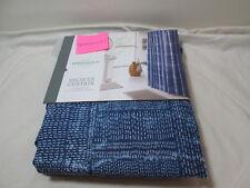 New Threshold Quality & Design Shower Curtain 72X72 Tie-Dyed Stitch ~ Blue/White