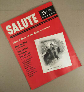 April 1946 First Issue SALUTE MAGAZINE Military WWII Post War Victory Home Front