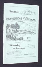 """1986 - LELAND J. GRITZNER'S """"THOUGHTS FROM PIONEERING IN PAHRUMP"""" - 30 PAGES, PB"""