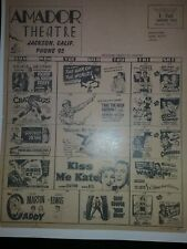 Amador Theatre Jackson CA Vintage Poster