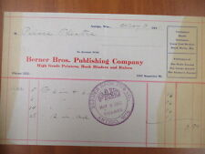 Vintage movie letterhead Berner Bros. publishing co Antigo advertising 5-3-1911