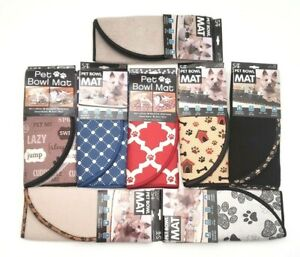 Pet Bowl Microfiber Dog/Cat Anti-Skid Bump Mat Protect Floors Choose Color