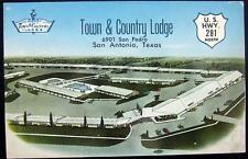SAN ANTONIO Texas ~ 1950's TOWN & COUNTRY LODGE ~ DRIVE IN  ~ U.S. HWY 281