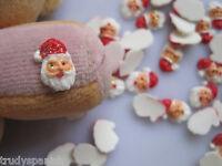 10 x Christmas Candy Cane Santa Snowman 3D Nail Art Cabochons Kawaii Decoden NEW
