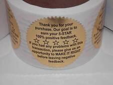250 Thank You for your Purchase/FB ebay Amazon Bonanza Etsy Rakuten label gold