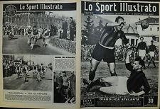 LO SPORT ILLUSTRATO N°11/16.MAR.1950 - DIABOLICA ATALANTA - RITORNA LA SANREMO