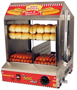 Hotdog Steamer Machine & Bun Warmer THE DOG HUT Commercial Hot Dog Cooker 8020