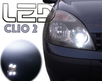 Renault CLIO 2 Veilleuses LED Blanc feux de Position Anti erreur ODB Canbus