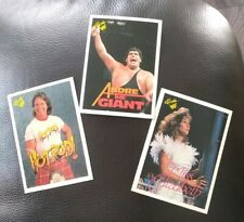 1990 Classic WWF 3 Card Lot Andre the Giant Rowdy Rowdy Piper Miss Elizabeth VG