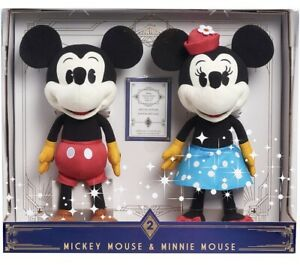 Amazon Exclusive Disney Treasures From The Vault Mickey & Minnie Plush Boxed New