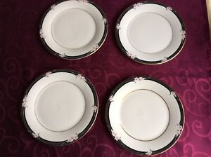 FOUR ROYAL DOULTON VOGUE ENCHANTMENT SIDEPLATES  - 200mm EXCELLENT CONDITION
