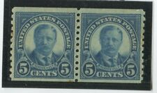 U.S. Stamps Scott #602 Pair,Mint,Nh,F-Vf, 2 tiny spots Le (G255N)