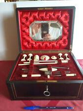 Rare grand coffret boite nécessaire à couture marqueterie Boulle époque Napoléon