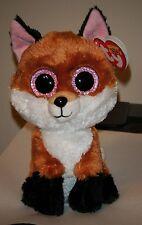 Ty Beanie Boos ~ SLICK the Brown Fox (6 Inch) NEW MWMT ~ Plush Stuffed Animal