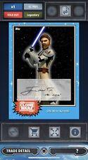Topps Star Wars Card Trader Live Signature James Arnold Taylor as Obi-Wan Kenobi