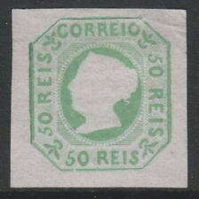 Portugal - 1864 reprint of the 50r Blue-Green - 4 Margins - Mint no gum - SG 7