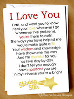 Greeting Card Shining Star Great Dad Happy Birthday Merry Christmas Fathers Day