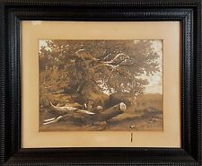 E1-001. RURAL LANDSCAPE. CHARCOAL DRAWING. SCHOOL RIGALL. ANONYMOUS. XIX CENTURY