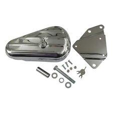 Werkzeugbox, Toolbox Chrom mit Halter rechts für Harley - Davidson Softail 84-99